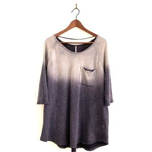 Free People  Sweatshirt Oversized Tunic Top Gray